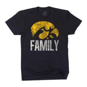 Hawkeye Family Short Sleeve Tee-Black
