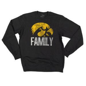 Hawkeye Family Crewneck Sweatshirt-Black