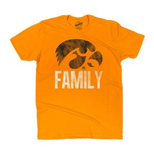 Hawkeye Family Short Sleeve Tee-Gold