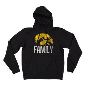 Hawkeye Family Hooded Sweatshirt-Black