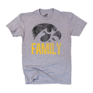 Hawkeye Family Short Sleeve Tee-Heather Grey