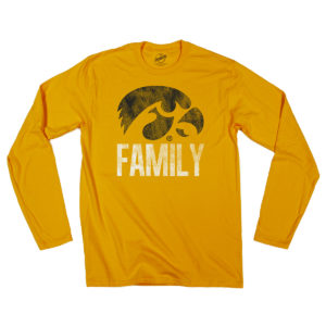 Hawkeye Family Long Sleeve Tee-Gold