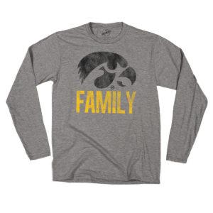 Hawkeye Familiy Long Sleeve Tee-Heather Grey