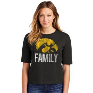 Hawkey Family Women's Boxy Tee-Black