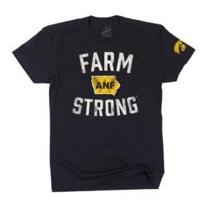 America Needs Farmers Farm Strong Short Sleeve Tee-Black
