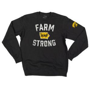 America Needs Farmers Farm Strong Crewneck Sweatshirt-Black