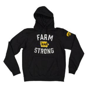 America Needs Farmers Farm Strong Hooded Sweatshirt-Black