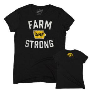 America Needs Farmers Farm Strong Women's Triblend Short Sleeve Tee-Black