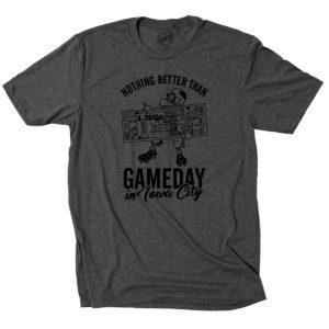 Gameday In Iowa City Triblend Short Sleeve Tee-Grey