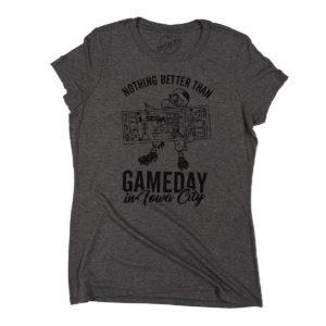 Gameday In Iowa City Women's Triblend Short Sleeve Tee-Grey