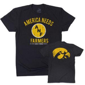 America Needs Farmers Short Sleeve Tee-Black