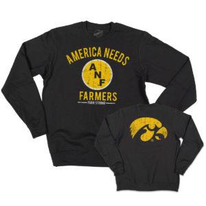 America Needs Farmers Crewneck Sweatshirt-Black
