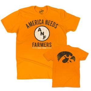 America Needs Farmers Short Sleeve Tee-Gold