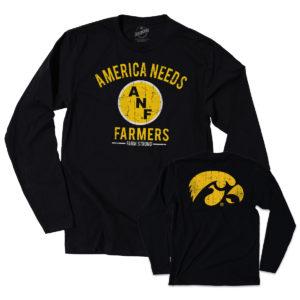 America Needs Farmers Long Sleeve Tee-Black