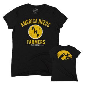 America Needs Farmers Women's Triblend Short Sleeve Tee-Black