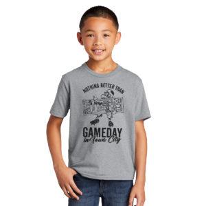 Gameday in Iowa City Youth Short Sleeve Tee-Grey