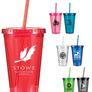 16 oz. Victory Acrylic Tumbler with Straw Lid